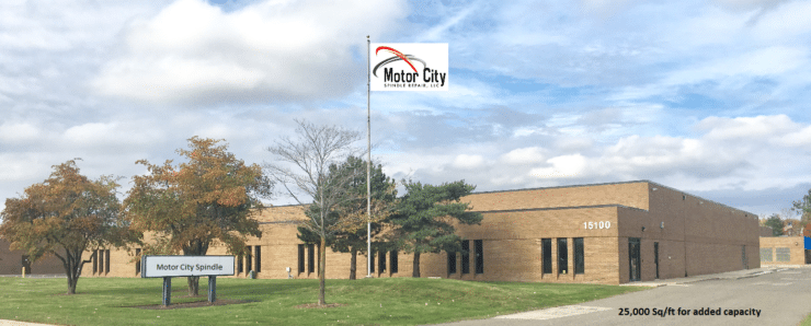 Motor City Spindle Repair is Moving to Dearborn, MI:  25,000 sq/ft for Increased Capacity