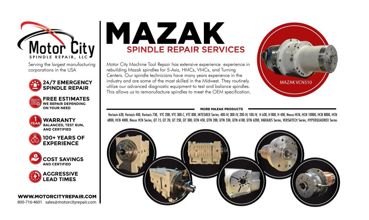 Kitamura spindle repair emergency services free estimates for Motor city spindle repair