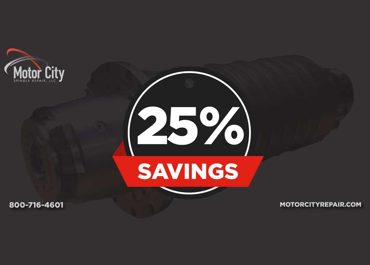 Spindle Repair Savings