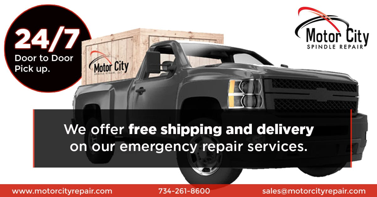 Free shipping and delivery on our emergency repair services.