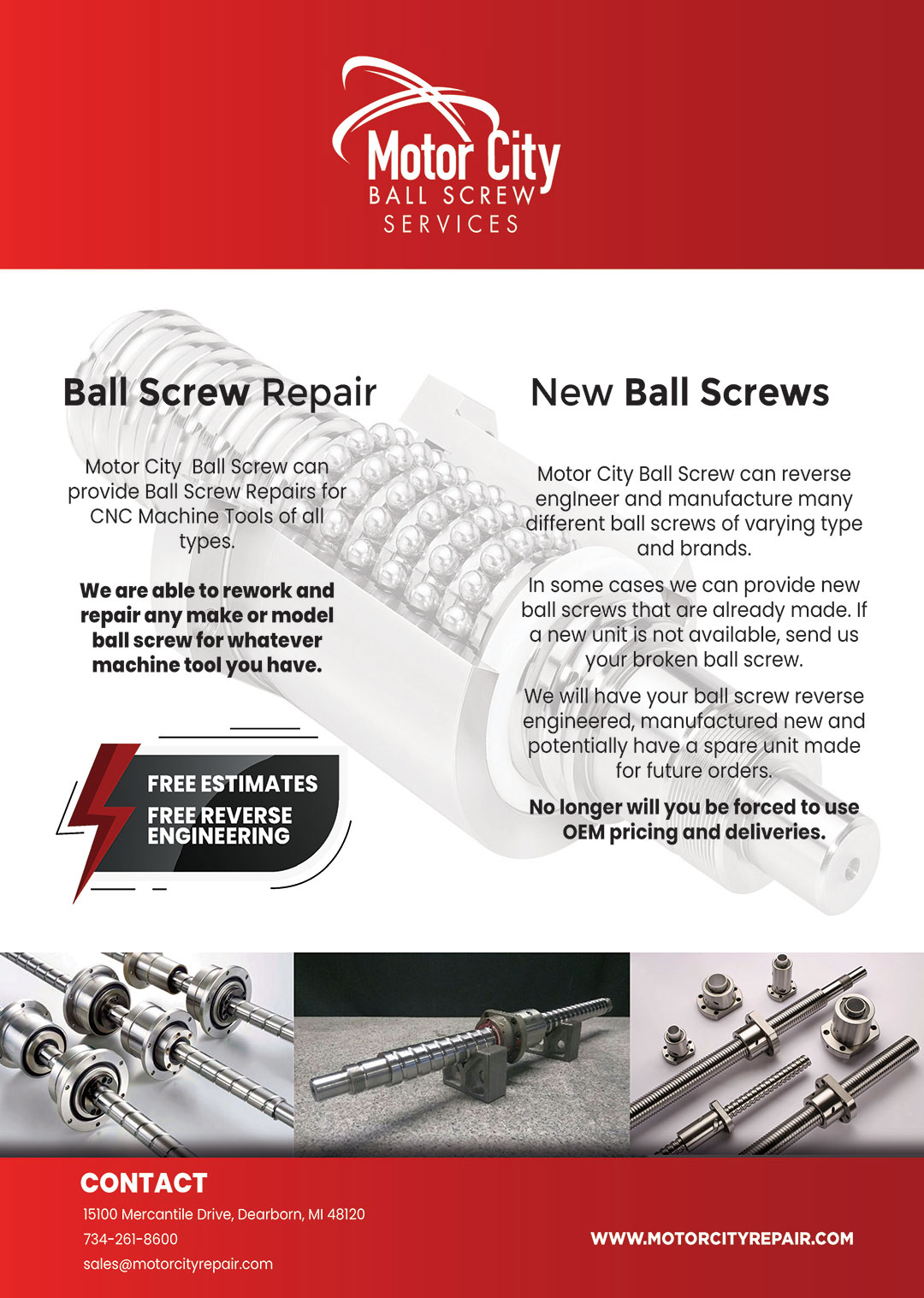Ball Screw Repair  Free Ball Screw Reverse Engineering